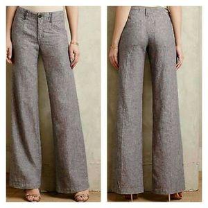 Anthro Pilcro & The Letterpress Grey Linen Trouser